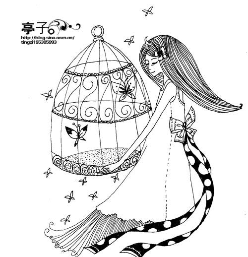 亭子的插画; 亭子卡通图片大全下载