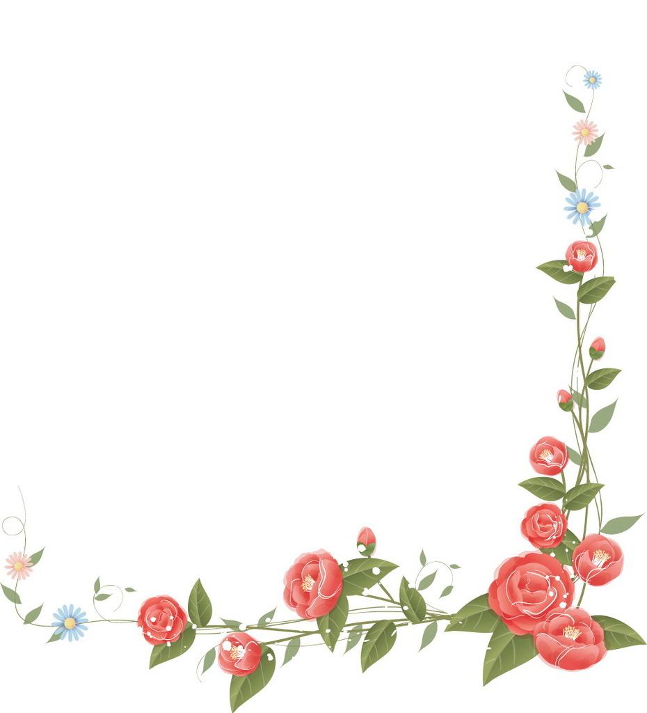 漂亮的手绘花边框